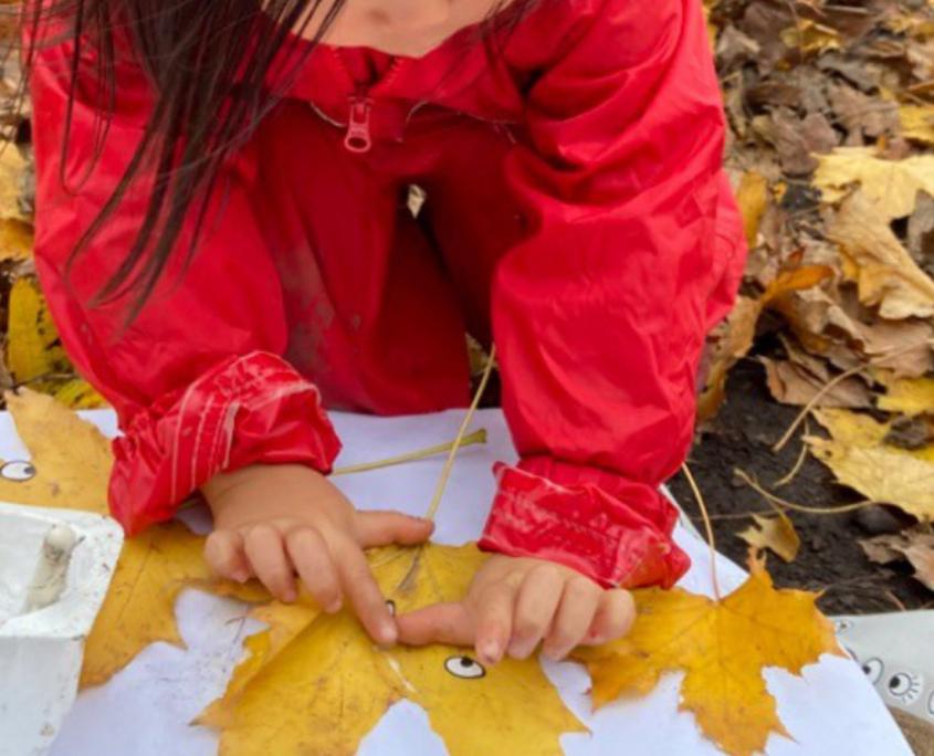 Leaf art at Holy Trinity Nursery