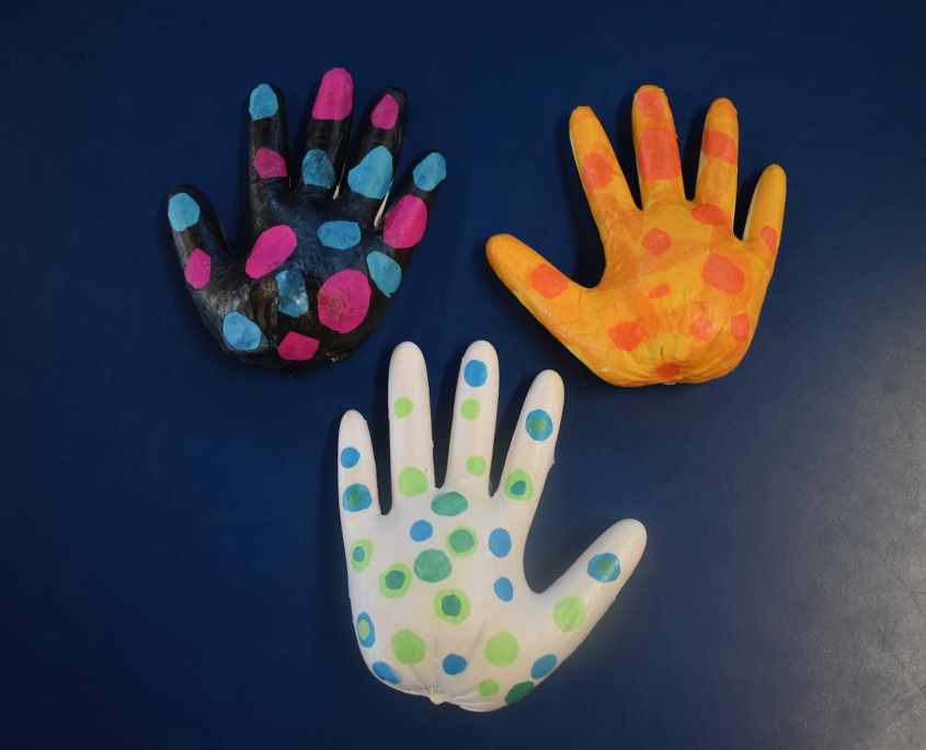 Painted Hand Casts