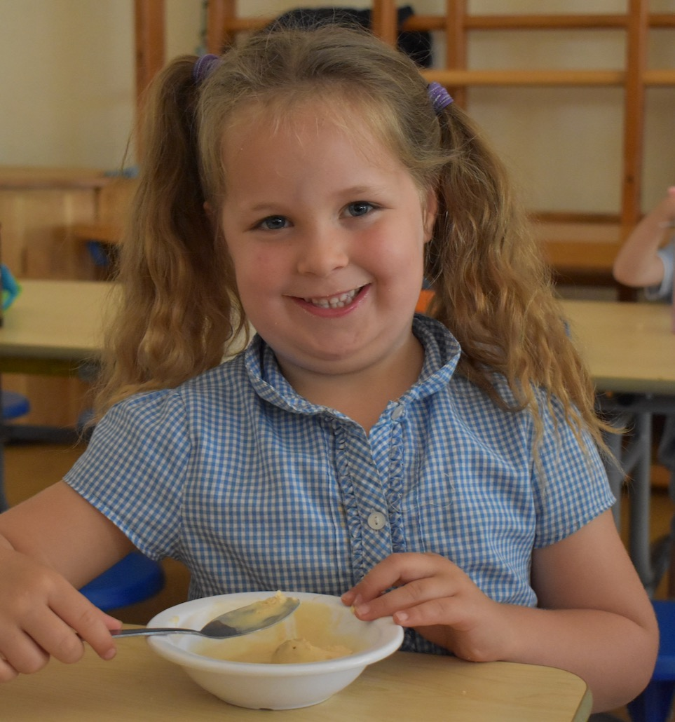 School lunches at Holy Trinity School