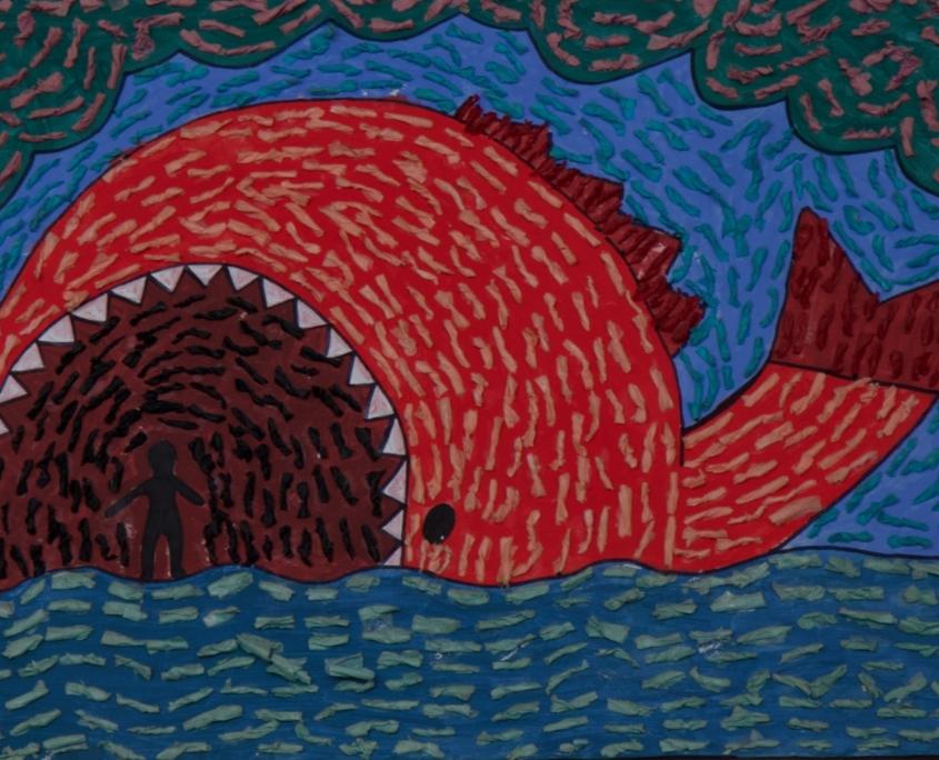 R.E painting at Holy Trinity School