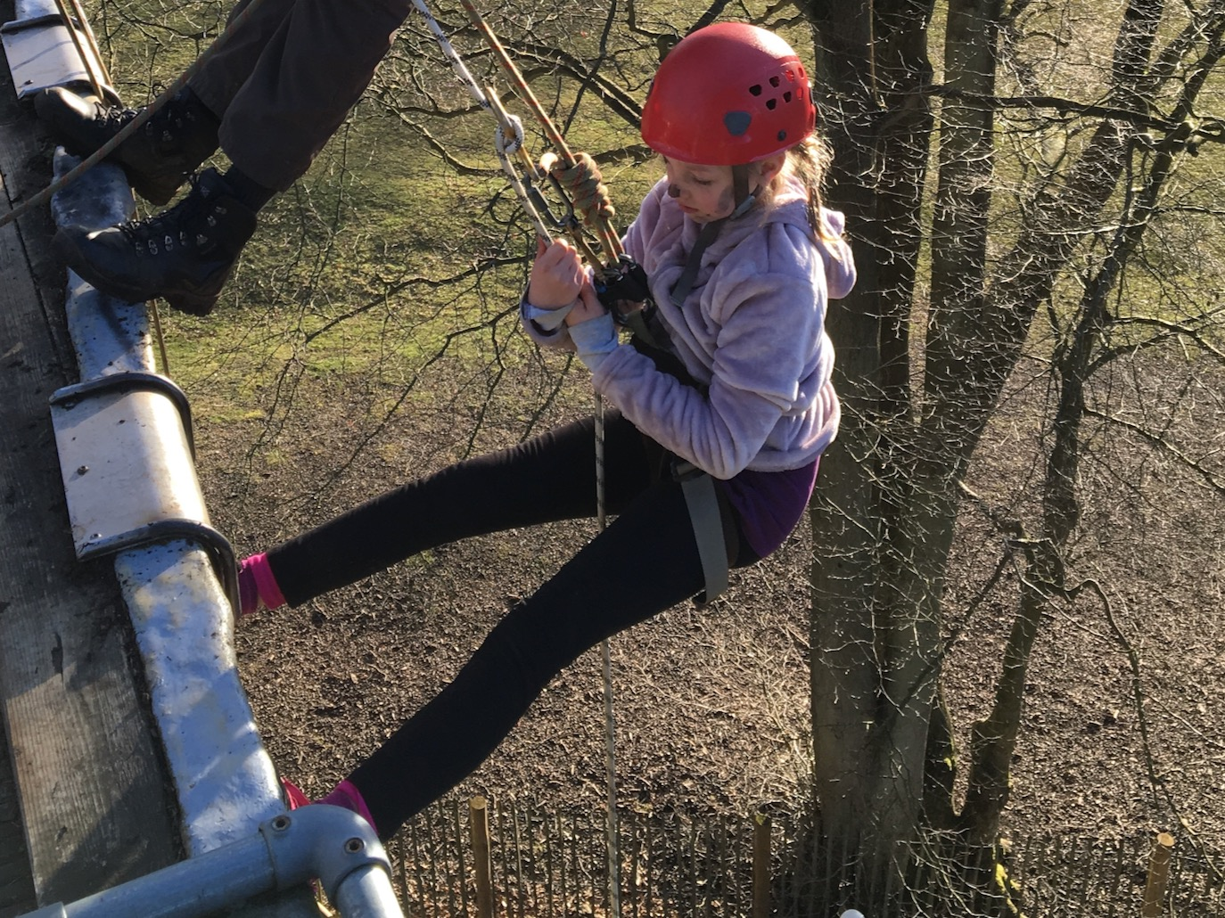 Special Educational Needs abseiling